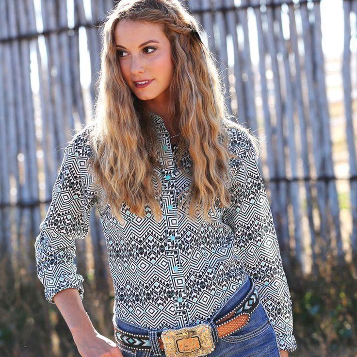 CRUEL GIRL RODEO Western Barrel Arena Fit Snaps AZTEC SHIRT COWGIRL NWT MEDIUM #CruelGirl #Western