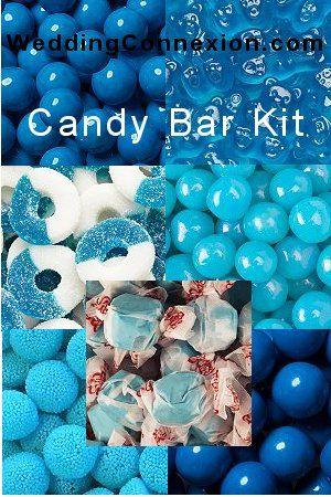 Budget-friendly blue candy buffet candy kit.