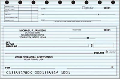 Top Stub Blue Safety Checks from Checks-SuperStore.com