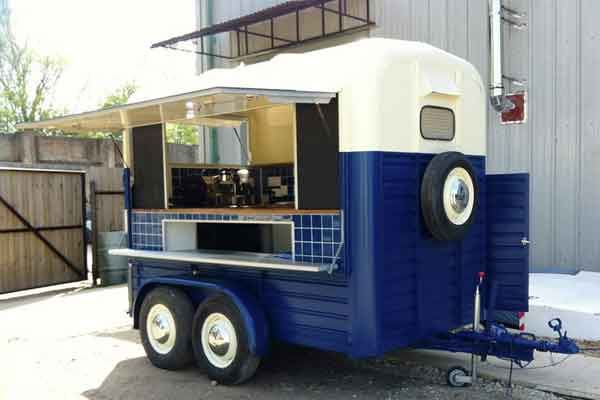 Horsebox Coffee Co. Converted 1976 Rice horsebox trailer