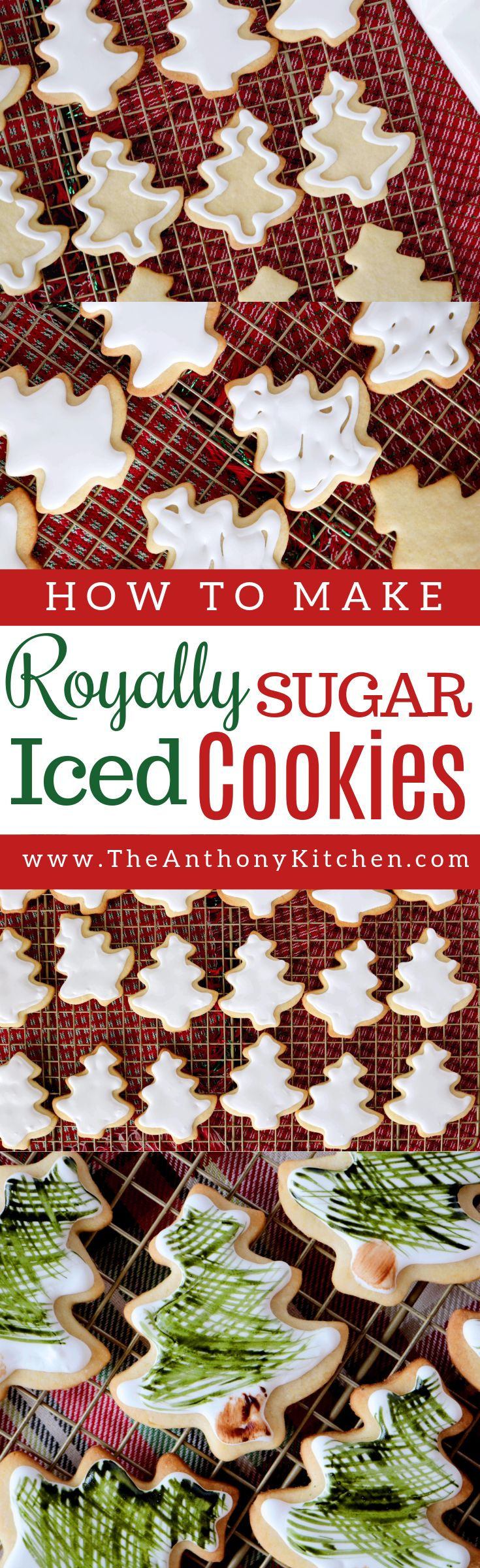 Royally Iced Sugar Cookies | A recipe for royally iced sugar cookies. Plus, tips for working with royal icing and homemade sugar cookie dough | #sugarcookies #christmascookies #cookieswithroyalicing