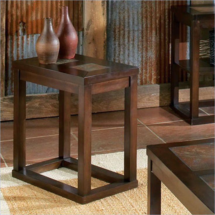 Alberto Chairside End Table in Cherry Finish - AL100EC - Lowest price online on all Alberto Chairside End Table in Cherry Finish - AL100EC