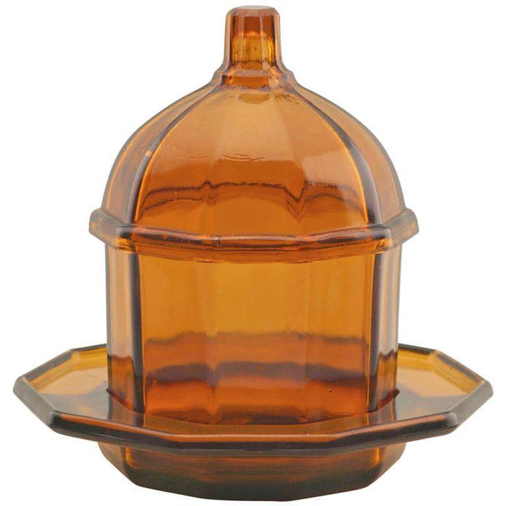 Art Deco Jam or Honey Jar by K.P.C. de Bazel for Royal Leerdam - CREATOR:Glasfabriek Leerdam (Manufacturer),  Netherlands, 1922