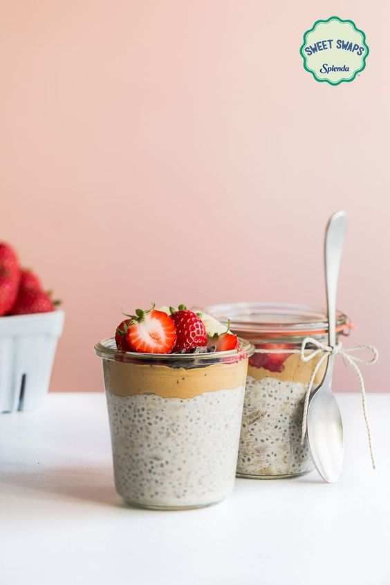 Prepare these easy Peanut Butter, Banana Chia Pudding Parfaits from Jennifer Chong ahead of time for a delicious breakfast or dessert in no time!  http://www.sweetswaps.com/post/152072299791/chiapudding