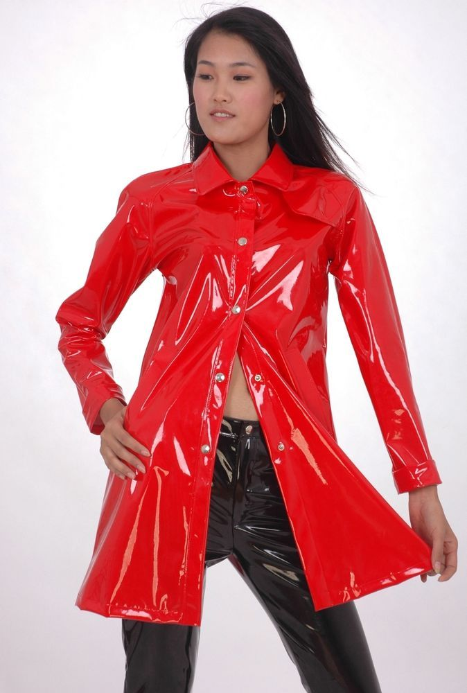 lackina long lacquer autumn coat size s 4 xl m ntel. Black Bedroom Furniture Sets. Home Design Ideas