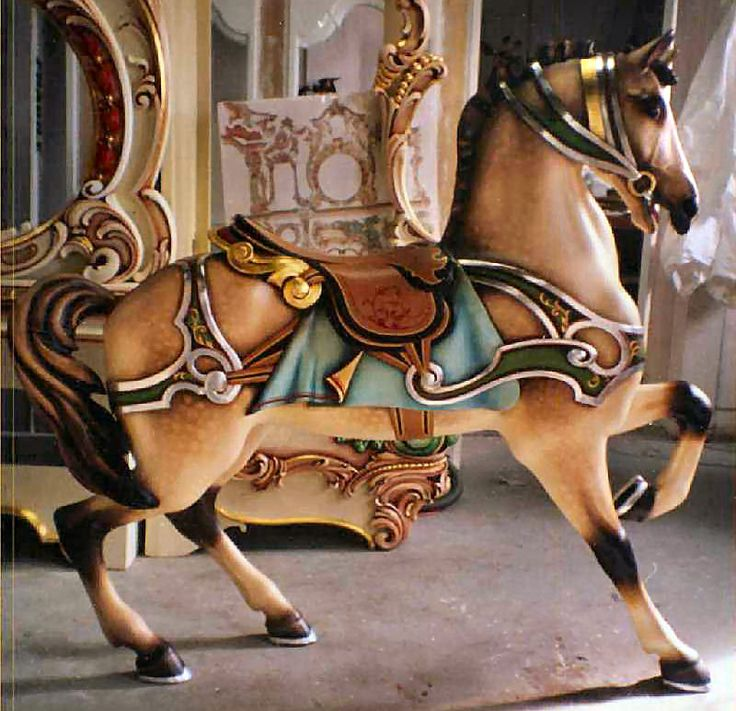 Carousel Animals -- [REPINNED by All Creatures Gift Shop]