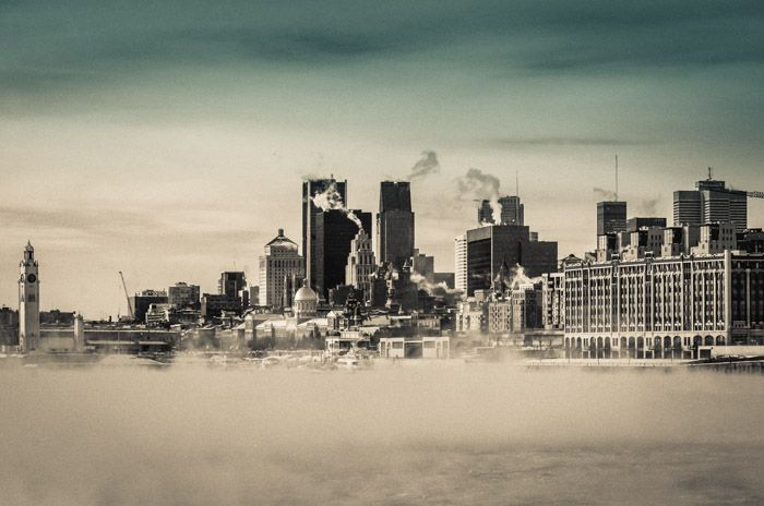 Project 52 - Week 4: Steam fog rising off the Saint Lawrence river