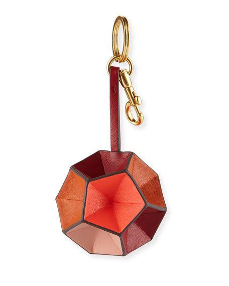 ANYA HINDMARCH Circle Leather Key Chain, Multi. #anyahindmarch #