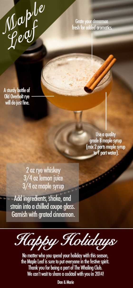 ... Maple Syrup, Rye Whiskey, Maple Leaves, Maple Leaf, Cocktails Recipe