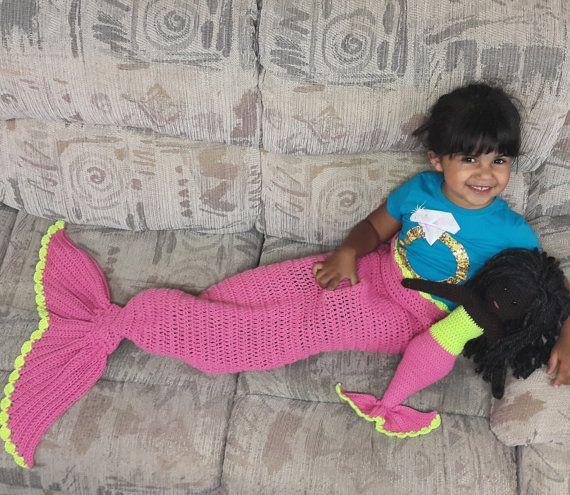 Mermaid Blanket  Kids Mermaid Tail Blanket  by SerendipityasAlways
