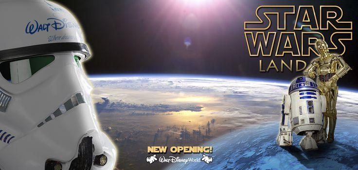 Tríptico Informativo: nueva apertura (ficticia) de #StarWarsLand en #WaltDisneyWorldOrlando