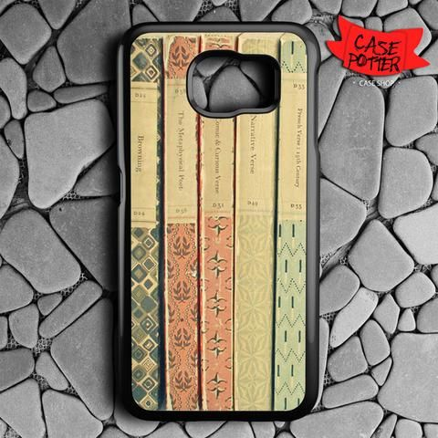 Old Book Shelf Samsung Galaxy S6 Black Case