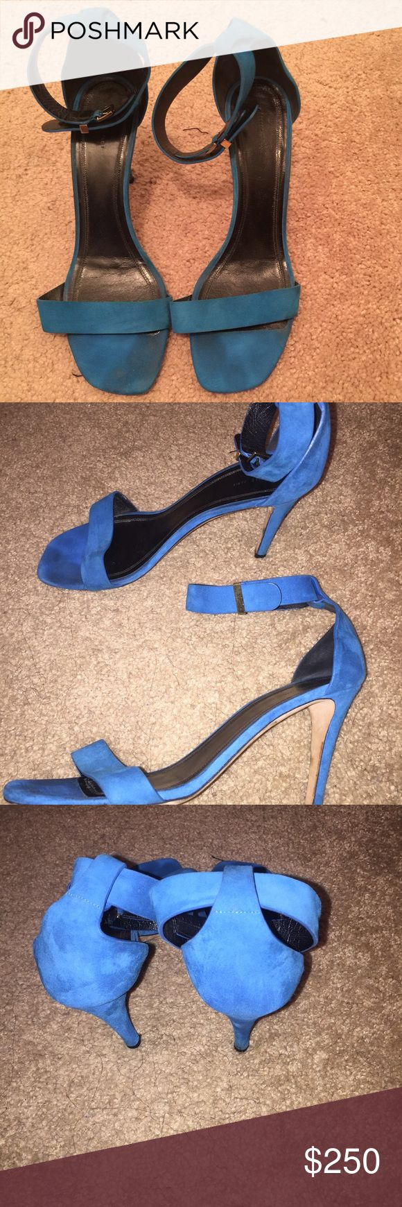 Celine Turquoise Sandals. Gently Used. Sz 40 Gently used, sophisticated sandals. Celine Shoes Sandals