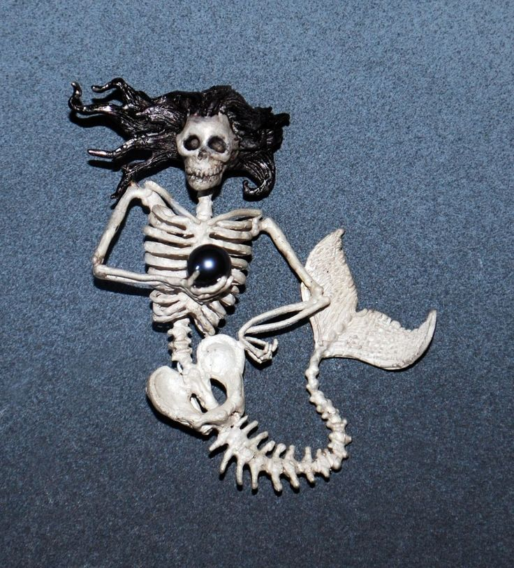 Hand Made Mermaid Skeleton Brooch by Michael Holland Productions ...