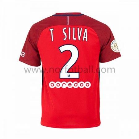 Billige Fotballdrakter Paris Saint Germain Psg 2016-17 T. Silva 2 Borte Draktsett Kortermet