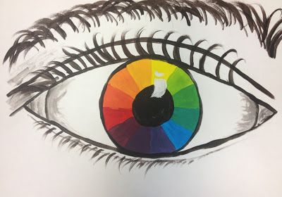 Splats, Scraps and Glue Blobs: Color Wheel Eyes