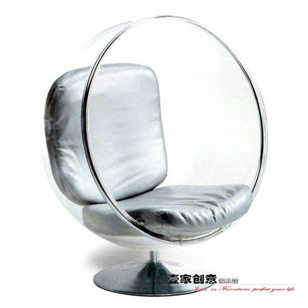 Bubble стул дизайнер Lounge Chair прозрачные акриловые стулья пузырь вращающееся кресло YJ103- Taobao Space Ball