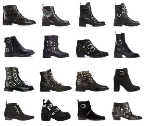 Schoenen en Laarzen 2017: Buckle boots. Stoere gesp-laarsjes