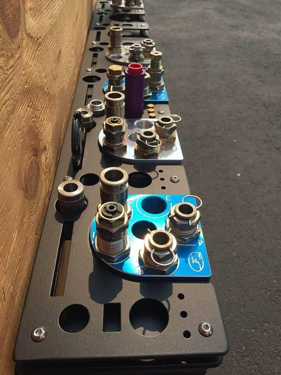 XL 650 Pro Toolhead Racks with locations to hold conversion kits