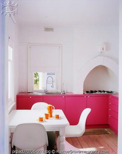 pink kitchens - Magenta Kitchen Design