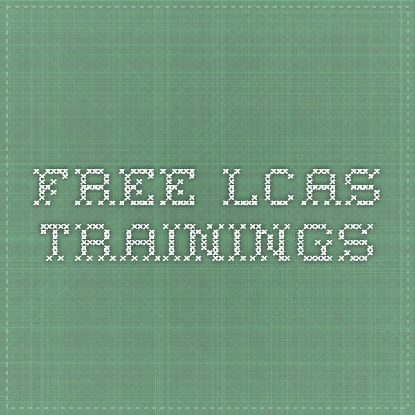 FREE LCAS TRAININGS
