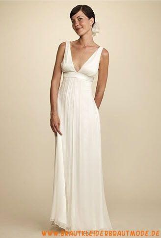 2013 Preiswerte rückenfreie Brautmode aus Chiffon