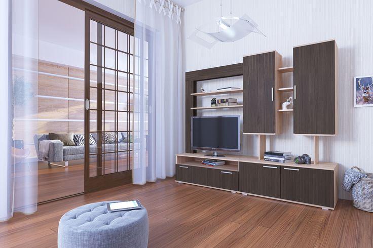 Стенка Альто - современный дизайн, не следующий прихотливой моде, объединяющий в себе свободу и легкость, качество и красоту. Стенка ALTO - воплощение Вашего стиля и эмоций, мечты и тайных желаний. Гарнитур, радующий каждый день, поднимающий настроение, создающий уют и комфорт. Мягкие древесные тона добавляют изысканности и уникальности Вашей гостиной. Каждый элемент тщательно продуман в функциональном плане, что принесет в Ваш дом частицу истинного блаженства и спокойствия.