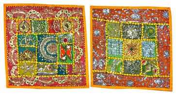 Indian Cushion Cover Embroidered Pillowcases Throw, Set of 2 asian-pillowcases-and-shams #cushion cover #boho pillowcase #throw #indian sham #home decor #designer pillow case #decoartive #home decor #sofa sushion cover