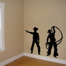 Cowboy Boys Room , Cowboy Stickers room decor, Cowboy room decor silhouttes