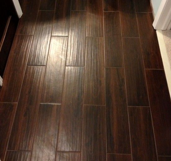 Dark Wood Tile Bathroom: 76 Best Images About Wood Look Tile Floor On Pinterest