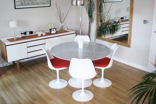 Стол и стулья Tulip Ээро Сааринен 1956
