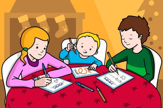 Resultado de imagen para niños escribiendo cartas
