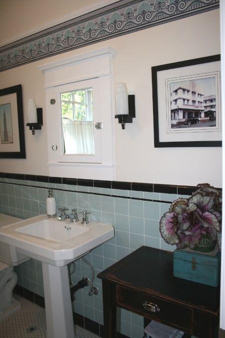 17 beste idee n over art deco badkamer op pinterest art deco decor badkamer behang en art deco - Deco toilet ideeen ...