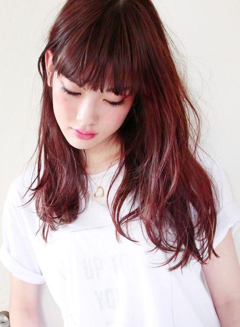 『 カット + 選べるブリーチ 』【suburbia】 http://www.beauty-navi.com/style/detail/58976?pint ≪#red #pink #hairstyle #ヘアスタイル #髪形 #髪型 #赤 #ピンク #レッド #longhair #ロング ≫