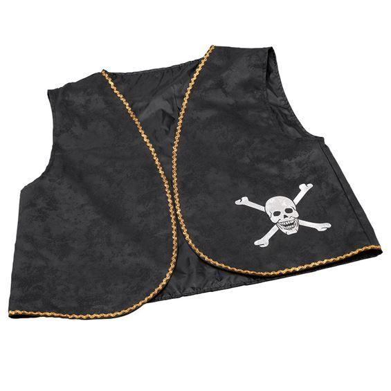 Sort pirat vest i god kvalitet fra Sjovogkreativ.dk til din pirat udklædning til din pirat temafest.