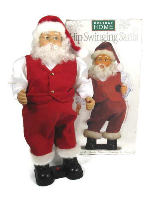 Holiday home hip swinging santa