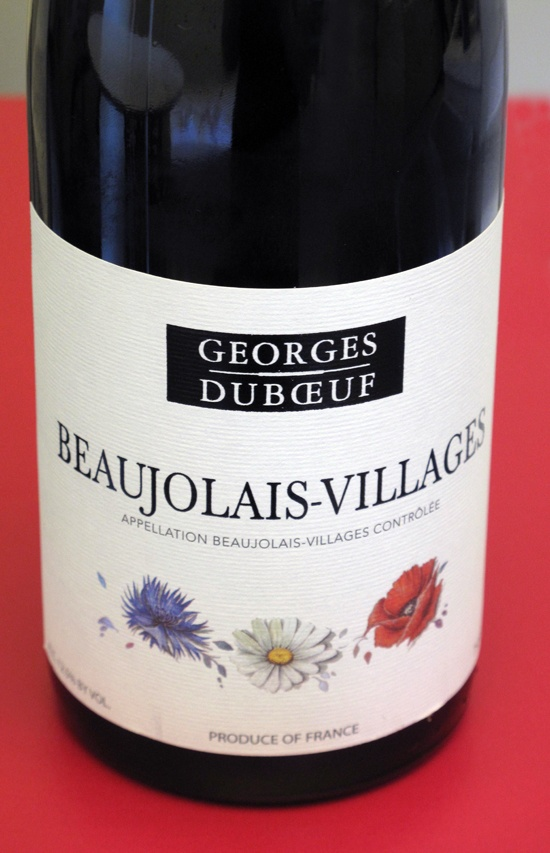 2011 Georges Duboeuf Beaujolais-Villages  nose of raspberry and plum  less weight and body than most reds  perfect for summer