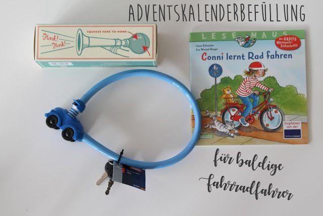 Adventskalender Ideen Befuellung fuer Kinder Fahrrad Geschenk Weihnachten 3 Jahre Jules kleines Freudenhaus