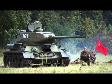 Restored T34 / 85 Tank - testing - Blank Firing Main Gun 85 mm - WW2 Reenactment - http://www.warhistoryonline.com/whotube-2/restored-t34-85-tank-testing-blank-firing-main-gun-85-mm-ww2-reenactment.html