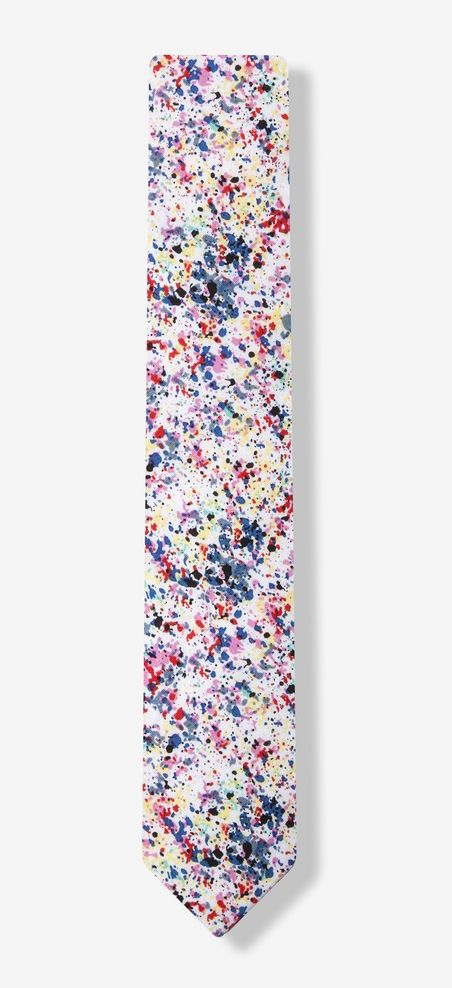 Red Pollock Skinny Tie, artistic skinny tie from Ties.com will show off your creativity and affinity for on-trend style. This multicolored splatter pattern is printed on light and airy cotton, perfect for a casual daytime look. http://www.zocko.com/z/JHxiF