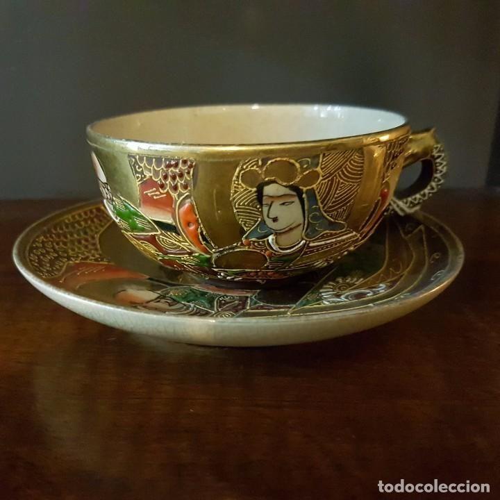 JUEGO DE PORCELANA JAPONESA SATSUMA (Antigüedades - Porcelana y Cerámica - Japón)