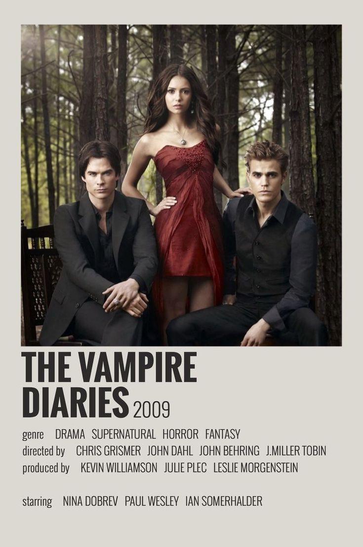 The Vampire Diaries By Maja Poster De Peliculas Carteles De Cine Minimalistas Portadas De Peliculas