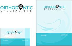 Ortodóntico, dentista, tarjeta de visita moderna del logotipo de la medicina del doctor Foto de archivo libre de regalías