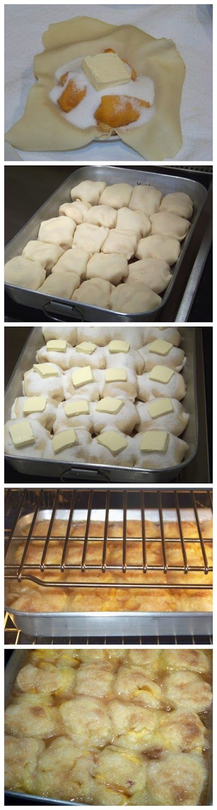 Peach dumplings were a summer treat that our Czech Grandmother made. For a very long time, we thought no one else had ever heard of them,...