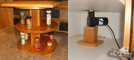 Look: DIY Automated Pop-up Kitchen Spice Rack