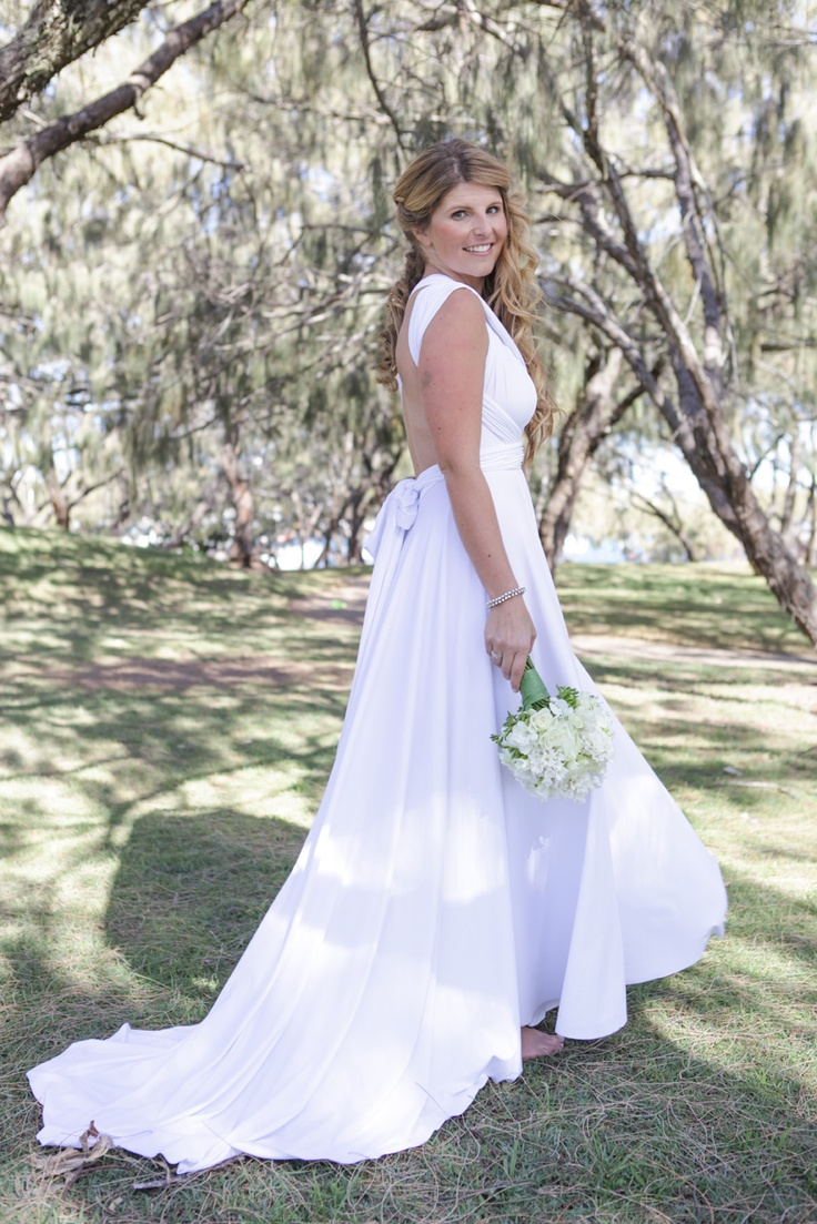 Convertible Wedding Dress by Lucy and Loo. Perfect for a Beach Wedding.     Twist and Wrap this dress into over 50 different styles!    www.lucyandloo.com.au