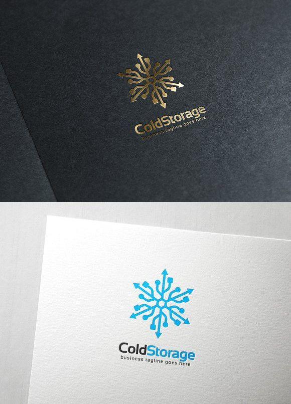 Cold Storage Logo Craft Paper Storage Unique Business Cards Design Cold Storage