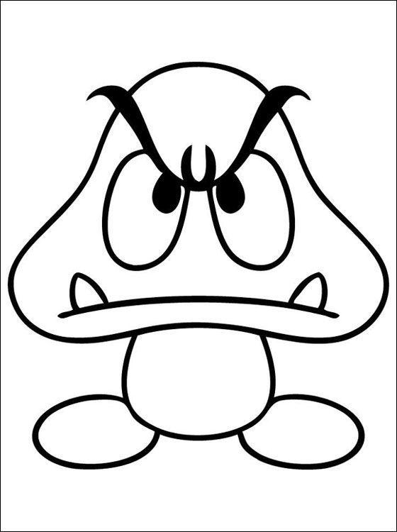 Ausmalbilder Malvorlagen Ausdrucken Kostenlos Gratis Gumba Mario Zum Undmalvorlagen Gumba Mario Zum Ausdrucken Coloriage Mario Coloriage Jeux Dessin