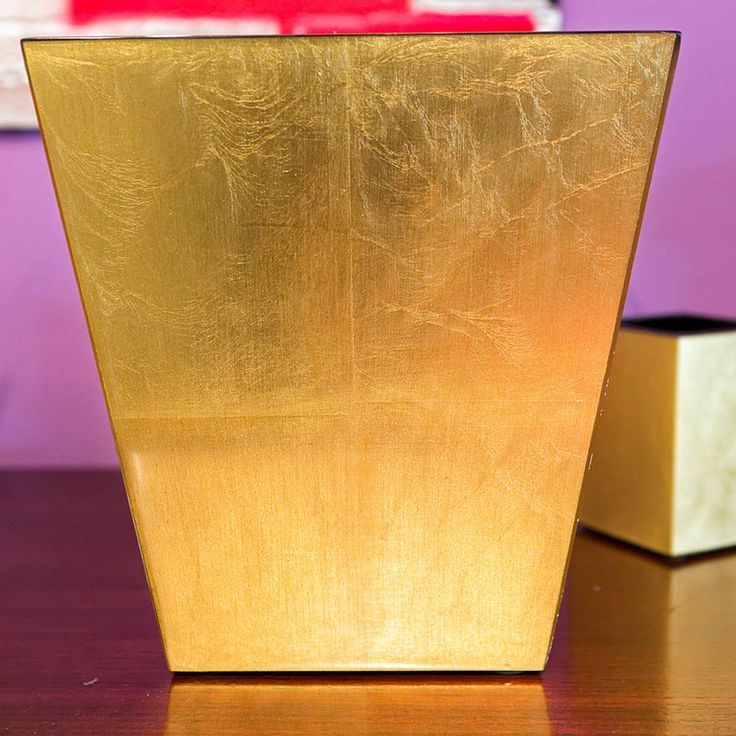 17 best images about red gold bathroom wastebasket on for Gold bathroom wastebasket