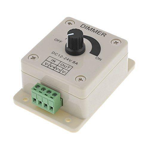 Neuftech® DC 12V-24V 8A interrupteur variateur gradateur/ dimmer Contrôleur de la luminosité de LED Ampoule pour 5050 3528 LED Light:…